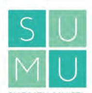 Suomen muistiasiantuntijoiden logo. 2x2 ruudukko, jossa vihreissä neliöissä kirjaimet s,u,m,u